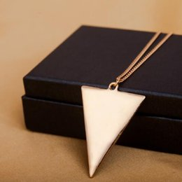 Simple triangle necklace online shopping - designer jewelry necklace for women triangle geometric figure family fashion simple hot fashion free of shipping