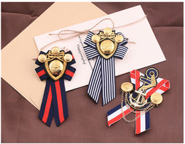 $enCountryForm.capitalKeyWord UK - Direct Selling Hot Sale Plated Trendy Anchor Lovers' Broche Female British Brooch Navy Wind Badge Male College Suit Pin