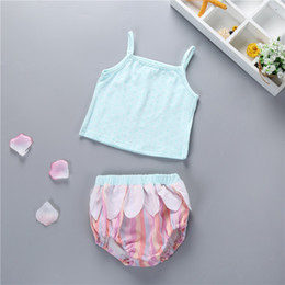 cute outfits tank tops NZ - 2018 Summer Baby Girls Clothing Sets Vest Tank Tops +Striped PP Shorts Bloomers Bottoms 2pcs Infant Girls Clothes Newborn Sunsuit Outfits
