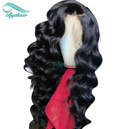 $enCountryForm.capitalKeyWord Australia - Bythair Lace Front Human Hair Wig Natural Wave Pre Plucked Hairline Full Lace Wig Wavy Malaysian Virgin Hair 150% Density Bleached Knots