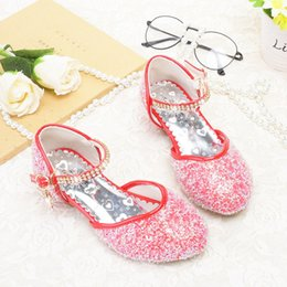 $enCountryForm.capitalKeyWord NZ - Spring models Princess shoes Girls Crystal High-heeled Children Red Shoes Little girl Shining show shoes Korean version