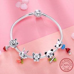 Discount dog rabbits - Women's 925 Sterling Silver Beads Bracelet Animal Series Cat Dog Rabbit Panda Design High Quality Fit Women Jewelry Acce