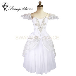 ballet stage costumes NZ - Snow White Queen Adult Professional Ballet Long Tutu Romantic Ballet Tutu Dress Ballerina Stage Costumes BT8902B