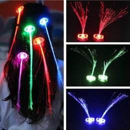 Hair braids for kids online shopping - LED Luminous Hair Flashing Braid Girls Hair Glowing For Party Christmas Halloween Night Lights Decoration Colorful NNA854