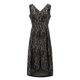 5022bd4c347 2019 Elegant hollow out lace dress Gothic Women vintage sleeveless slim black  dress Sexy party dress goth vestidos