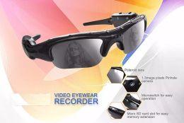 Mini Digital Audio Australia - Portable Mini Sunglasses Camera 720*480P 30FPS Sunglasses Camera Digital Audio Video Recorder Sports sunglasses Camcorder Support TF Card
