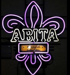 restoration lighting NZ - Custom New Abita Restoration Real Glass Neon Sign light Beer Bar Sign Send need photo 19x15""