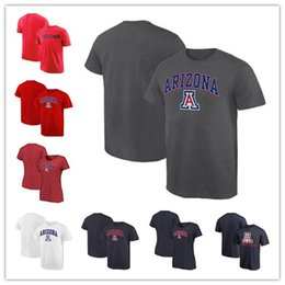 Red Black Grey Shirts Canada - Mens Arizona Wildcats Fanatics Branded Campus T-Shirt black white grey red size S-XXXL free shipping
