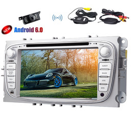 radio gps ford mondeo NZ - GPS Car DVD Player Quad-core Android 6.0 Marshmallow Stereo System in Dash 7'' Touchscreen Headunit For Ford Focus Mondeo GPS Navigation BT