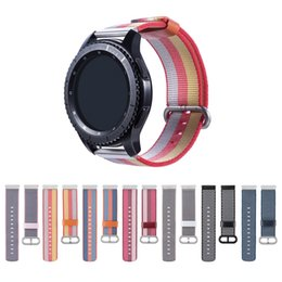 Smart watcheS pebble online shopping - Woven Nylon huami amazfit bip mm band for Samsung Gear S2 sport S3 Classic Frontier Wrist strap For Pebble Time Steel