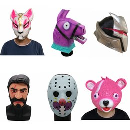 movies bear 2019 - 2018 Fox Drift Latex Llama Full Face Mask Cuddle Team Leader Game Mask Cosplay Funny Animal Pink Bear Halloween Party Pr