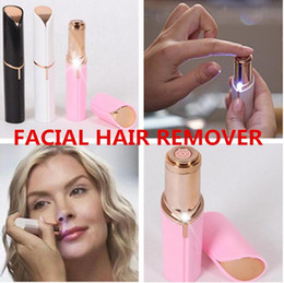 Electric Lipstick Canada - HOT Electric Shaver Razor Wax Flawles facial hair removal Women Lipstick portable mini Hair Remover Trimmer Machine Shaving Tool 1PCS
