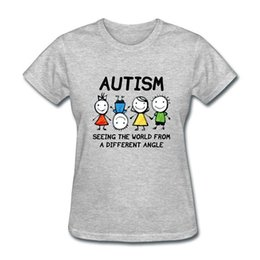 $enCountryForm.capitalKeyWord NZ - Funny Cotton T Shirt Gift O-Neck Short-Sleeve Autism Seeing The World From A Different Shirts For Women