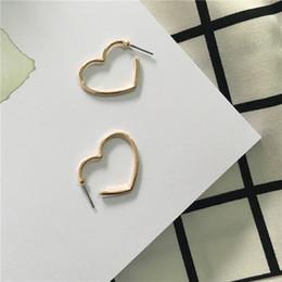 Office Opening Gifts 2018   Timeless Wonder Cute Cutout Heart Geo Open Drop  Earrings Women Gift