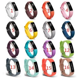 Chinese  New Replacement Wrist Band Wristband Silicon silicone Strap For Fitbit Alta HR Smart watch Bracelet 16 color Clasp Smart acccessories manufacturers
