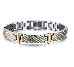$enCountryForm.capitalKeyWord NZ - Drop shipping brand new top quality men's stainless steel bracelet magnets germanium bracelets hematite fashion jewelry factory supplier 079