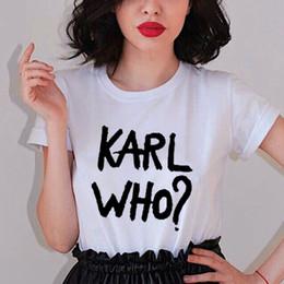 af3cf385e T das mulheres Moda Karl Mulheres Homens Tops T-shirt Das Senhoras Amarelo  Branco Karl Que T Shirts Engraçado Camiseta Masculina de Manga Curta  Feminino ...