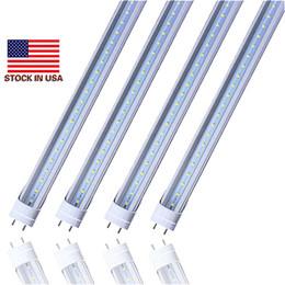 Ingrosso Stock in USA - Tubi a Led 4ft T8 18W 20W 22W SMD2835 Lampadine Fluorescenti Led 4 piedi 1200mm 85V-265V G13 Illuminazione negozio