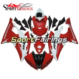 Complete Fairing Kits Yamaha Australia - Complete Motorcycle Fairing Kit For Yamaha YZF600 R6 YZF-R6 2008 - 2016 09 12 14 15 16 Injection ABS Plastic Motorcycle Bodywork Red White