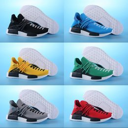 ab1fa24ef 2019 NMD Human Race Pharrell Williams x Men women Running Shoes Black Red  Yellow Blue Green Grey Sport Sneakers 39-46