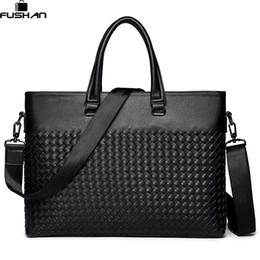 38f950fae Young fashion Men Laptop Bag Shoulder Bags Business Men's Leather Tote Bag  for Men Messenger bags Mens Handbags New Briefcase