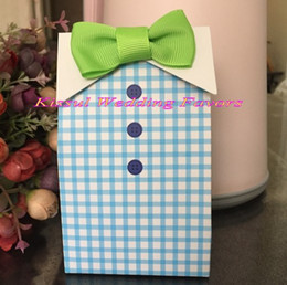 $enCountryForm.capitalKeyWord Australia - (50 Pieces Lot) Baby souvenirs Gift bags of My Little Man Candy Favor Box For Baby Birthday Party Decoration Box