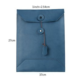 Genuine Leather Bag Design Australia - Moterm 100% Genuine Leather Men Envelope Bag A4 Size Simple Design Date File Package Documents Pouch Male Day Handbag