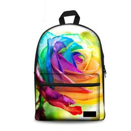 f3e2d353f5b1 wholesale Women Backpack Canvas Back Pack Bright Rose Floral Print  Backpacks Teenager Girls Schoolbag Mochila Feminina