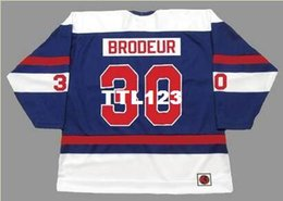 Men  30 RICHARD BRODEUR Quebec Nordiques 1974 WHA k Home Hockey Jersey or custom  any name or number retro Jersey 48893eac4