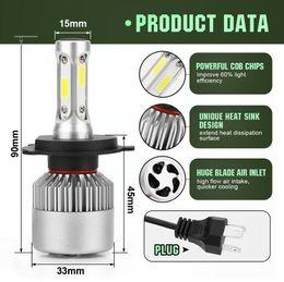 H11 online shopping - Car LED Headlights Bulb Fog Light K V V H1 H7 H11 H4 H13 COB LED Headlight W LM EEA217