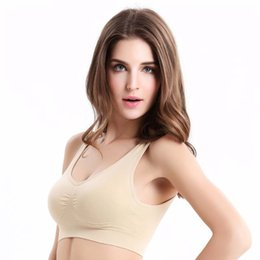 0e05674906261 30pcs S-3XL Sports Bra Women Fitness Seamless Unlined Vest Tops Push Up Bras  Bralette Deep U Plunge Cross Strappy Tank Wireless Underwear