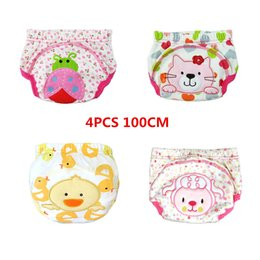 summer waterproof diapers 2019 - Summer 4PCS Cartoon Cotton Boys Girl Breathable Toilet Training Pants Nappy toddler Waterproof Soft Reusable Washable Di