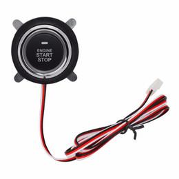 Car Start Stop UK - Button PKE Start Stop Car Engine With Wire Circuit Board Lgnition Starter Engine Starter Switch Work Push Start Antithef System