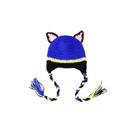 $enCountryForm.capitalKeyWord NZ - Newborn Photography Props Cute Cartoon dog styling Children Crochet Knit Beanie Hat Baby Animal Cap Photo Props Infant Autumn Winter Hat