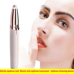 Hair removal instrument online shopping - Shaver Eyebrow trimming device Hair removal device Lipstick repairing eyebrow Electric trim eyebrow instrument mini Electriceyebrow knives