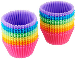 Cupcakes Mix Australia - Mini Reusable Silicone Baking Cups Muffin Cupcake Bakeware Non-stick Baking Pan Mold Mix Colors Dinning Tools