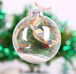 6pcs 10cm glass christmas ball transparent glass globe christmas day decoration different diameter for selecting best selling