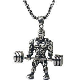 $enCountryForm.capitalKeyWord NZ - Wholesale Surgical Steel Jewelry Jewellery Metal Muscle Man Pendant Necklaces NM020