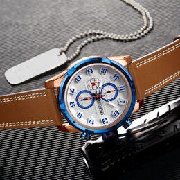 Men Digital Wrist Watches NZ - Men Clock Leather Quartz Men Wrist Watches