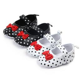 d4d25bd8 Primavera otoño bebé antirresbaladizo lunares zapatos niña niños suela  suave primeros caminantes zapatos para caminar ocasionales