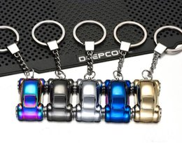 Discount car shape logos - Car Shape US Charge Lighter Creative Metal Zinc Alloy USB Rechargeable Lighter With Key Buckle Logo Customized Multi Col