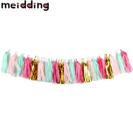 Balloons Backdrop online shopping - Colorful Tissue Paper Tassels Garland Banner Balloon Ribbon Kids Birthday Wedding Hen Party Photo Backdrop Props