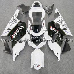 $enCountryForm.capitalKeyWord UK - 5Gifts+Custom ABS west white Fairing For Suzuki GSX-R600750 2001 2002 2003 GSXR 600 R750 K1 bodywork motorcycle plastic kit