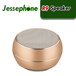 Mini Subwoofer Speakers Iphone Australia - R9 Mini Wireless Metal Bluetooth Speaker LED Light Subwoofer Speakers Support TF FM Mic For iPhone 7 6 6S Samsung Android Phone 60pcs