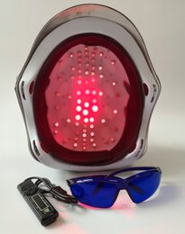 laser helmets NZ - laser hair regrowth equipment low level laser hair regrowth helmet for hair restoration LLLT therapy for sale with free glasses and timer
