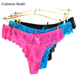 d2a55a61a515 6colors lace Women's Sexy Thongs G-string Underwear Panties Briefs For  Ladies T-back 2018 New Fashion and Hot Sale