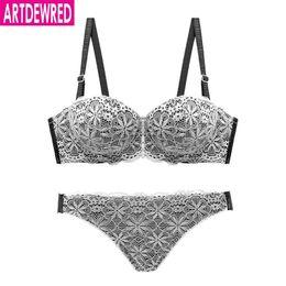 2c69e40c5d Artdewred 2018 Hot Sale Luxury 1 2 Cup Brand Sexy Intimates Push Up Bra Set  Underwear Floral Embroidery Lace Women Bra Panty set