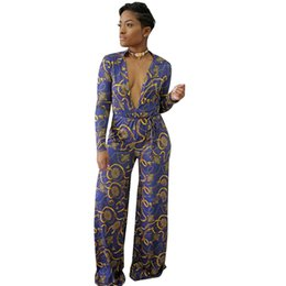 c7b582d8f7be Plus Size S~3XL Women Long Jumpsuit Fashion Turn Down Collar Sexy Deep V  Jumpsuit Casual Long Sleeve Slim One Piece Pants