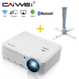 Android Tv Projector NZ - CAIWEI HD 1080P LED Projector Android Bluetooth Built-in WiFi Wireless Home Beamer Theater TV Channel with Ceiling Bracket Mount