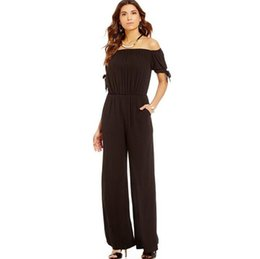 e7616357a7f3 Chiffon Long Sleeve Jumpsuit Pants UK - Hot Summer Europe Fashion Woman Jumpsuit  Slash Neck Short
